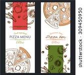pizza food menu cafe  brochure. ... | Shutterstock .eps vector #309450950