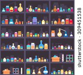 alchemical elixirs or chemicals ... | Shutterstock .eps vector #309451538