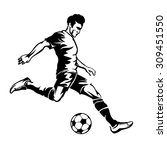 football player with soccer... | Shutterstock .eps vector #309451550