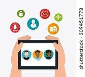 social media design  vector... | Shutterstock .eps vector #309451778