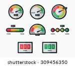 credit score indicators and... | Shutterstock .eps vector #309456350