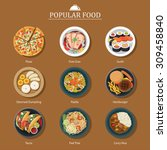 set of popular food | Shutterstock .eps vector #309458840