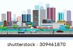 vector design city lifestyle in ... | Shutterstock .eps vector #309461870