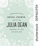floral bridal shower invitation ... | Shutterstock .eps vector #309461954
