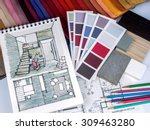 home interior decoration and... | Shutterstock . vector #309463280
