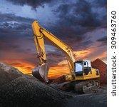 excavator | Shutterstock . vector #309463760