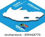 south africa map vector three... | Shutterstock .eps vector #309468770