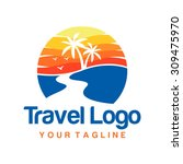 travel logo template | Shutterstock .eps vector #309475970