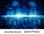 security concept  lock on... | Shutterstock . vector #309479960