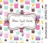 princess postcard. vector. | Shutterstock .eps vector #309481748