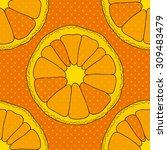 citrus seamless pattern.... | Shutterstock .eps vector #309483479