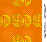 citrus seamless pattern.... | Shutterstock .eps vector #309483989