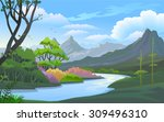 beauty of nature   river in a... | Shutterstock .eps vector #309496310