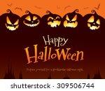 halloween pumpkins | Shutterstock .eps vector #309506744