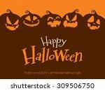 halloween pumpkins | Shutterstock .eps vector #309506750