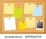 Cork Board   Post Note Vector...