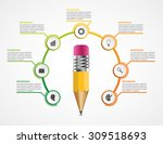education pencil option... | Shutterstock .eps vector #309518693