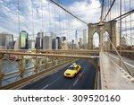 brooklyn bridge in new york... | Shutterstock . vector #309520160