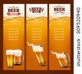 beer list for bar | Shutterstock .eps vector #309520940