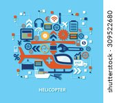 helicopter concept design on... | Shutterstock .eps vector #309522680