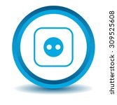 socket icon  blue  3d  isolated ...