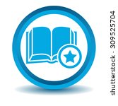 favorite book icon  blue  3d ...