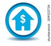 dollar house icon  blue  3d ...