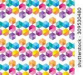 retro pattern of geometric... | Shutterstock .eps vector #309530480