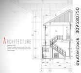 vector illustration of house on ... | Shutterstock .eps vector #309530750