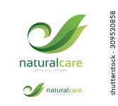 natural care logo swan and... | Shutterstock .eps vector #309530858
