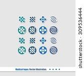 a set of logos for medical... | Shutterstock .eps vector #309536444