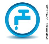 water tap icon  blue  3d ...