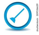 plunger icon  blue  3d ...