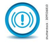 alert sign icon  blue  3d ...