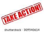 take action red stamp text on... | Shutterstock .eps vector #309540614