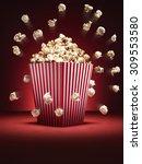 shot of cinema style popcorn in ... | Shutterstock . vector #309553580