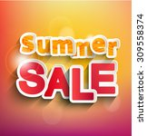 summer sale collection. raster... | Shutterstock . vector #309558374
