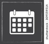 calendar sign icon  vector... | Shutterstock .eps vector #309559514