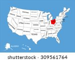 ohio state  usa  vector map... | Shutterstock .eps vector #309561764