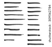 set of hand drawn marker lines... | Shutterstock . vector #309562784