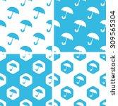 umbrella patterns set  simple...
