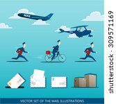 vector set of the mail...   Shutterstock .eps vector #309571169