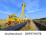 on the pipeline repairs | Shutterstock . vector #309574478