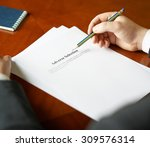Small photo of Adverse Selection definition as a shallow depth of field close-up composition of a man in a business suit working with the text