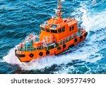 Orange Rescue Or Coast Guard...