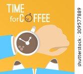 coffee time vector illustration ... | Shutterstock .eps vector #309577889