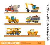 construction set. transport ... | Shutterstock .eps vector #309579626