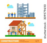 construction set. process of... | Shutterstock .eps vector #309579650