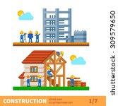 construction set. process of... | Shutterstock .eps vector #309579650