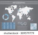 infographic elements set.world... | Shutterstock .eps vector #309579779